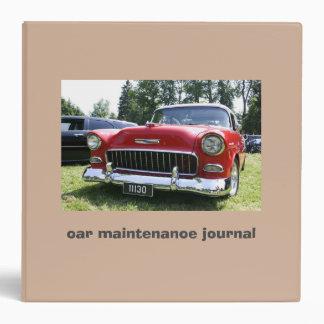 Car Maintenance Journal 3-Ring Binder