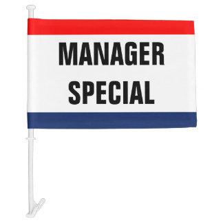Car Manager Special Promo Signage Customizable Car Flag