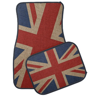 Car Mats Full Set, print canvas flag of Britain