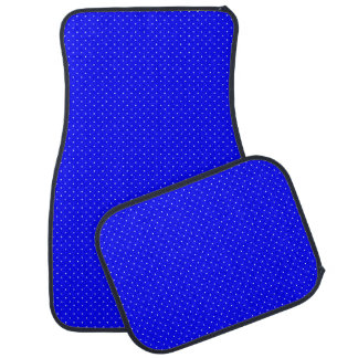 Car Mats Royal Blue with White Dots