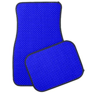 Car Mats Royal Blue with White Dots