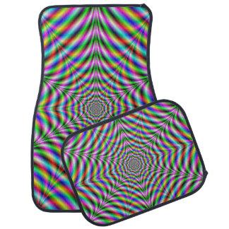 Car Mats  Twelve Pointed Psychedelic Web Car Mat