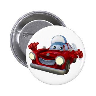 Car mechanic cartoon character buttons