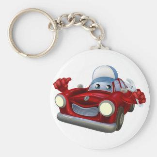 Car mechanic cartoon character keychain