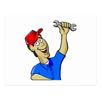 Car Mechanic Holding a Wrench Postcards