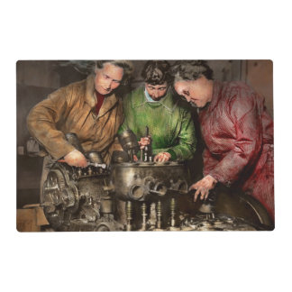 Car Mechanic - In a mothers care 1900 Placemat