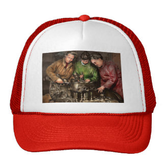 Car Mechanic - In a mothers care 1900 Trucker Hat