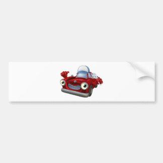 Car mechanic with spanner bumper sticker