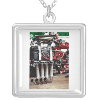 Car Motor From The Cajun National's Silver Plated Necklace