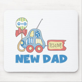 Car New Dad It's a Boy Mouse Pad