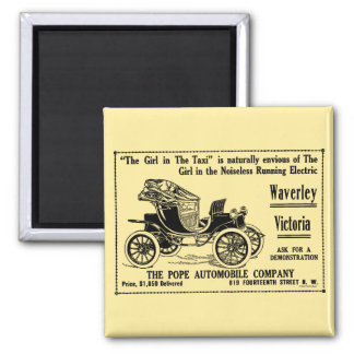 Car Newspaper Advertisement 2 Inch Square Magnet