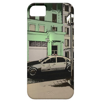 Car of police and street iPhone SE/5/5s case