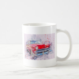 Car Old Car Abstract Watercolor Vintage Classic Coffee Mug