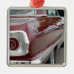 car profile Zaz.png Square Metal Christmas Ornament