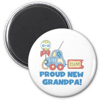 Car Proud New Grandpa It s a Boy Refrigerator Magnet