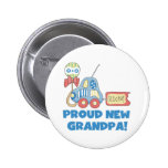 Car Proud New Grandpa It's a Boy Buttons
