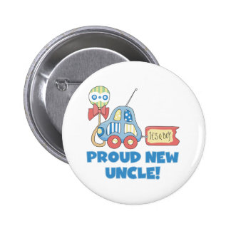 Car Proud New Uncle It's a Boy 2 Inch Round Button