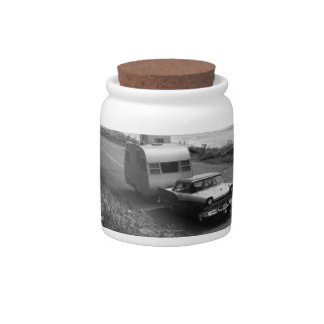 Car Pulling Trailer Candy Jars