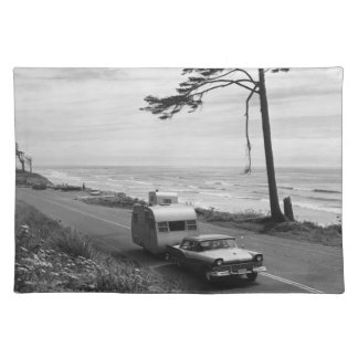 Car Pulling Trailer Cloth Placemat