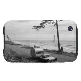 Car Pulling Trailer iPhone 3 Tough Cover