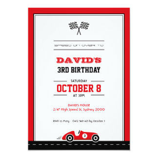 race car invitations  announcements  zazzle, Birthday invitations