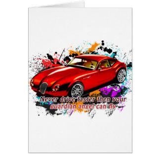 Car Race Card