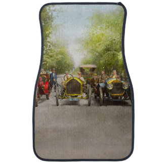 Car - Race - Hold on to your hats 1915 Car Floor Mat