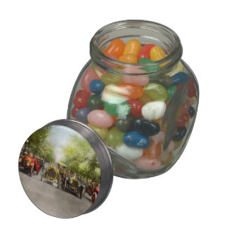 Car - Race - Hold on to your hats 1915 Glass Jars