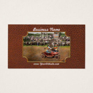 Car - Race - On the edge of their seats 1915 Business Card