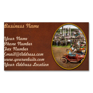 Car - Race - On the edge of their seats 1915 Magnetic Business Card