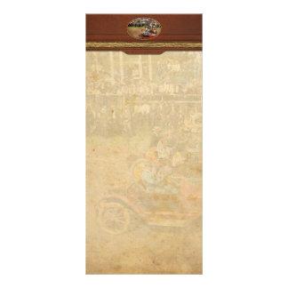 Car - Race - On the edge of their seats 1915 Rack Card