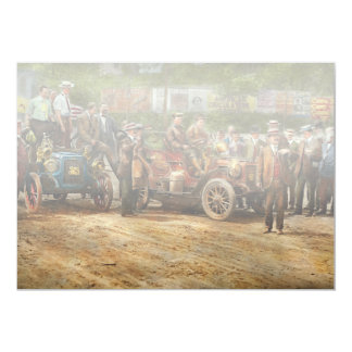 Car - Race - The end of a long journey 1906 Card