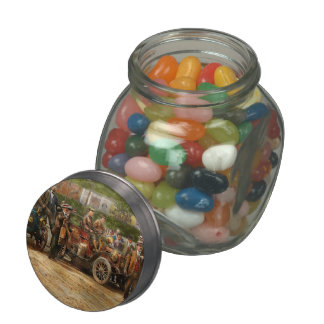 Car - Race - The end of a long journey 1906 Jelly Belly Candy Jar