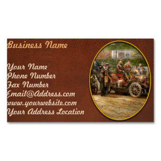 Car - Race - The end of a long journey 1906 Magnetic Business Card