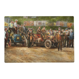 Car - Race - The end of a long journey 1906 Placemat