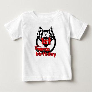 Car Racing 1st Birthday Baby T-Shirt