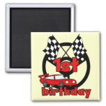 Car Racing 1st Birthday Tshirts and gifts Magnets