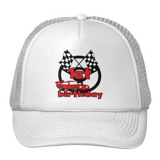 Car Racing 1st Birthday Tshirts and gifts Mesh Hat