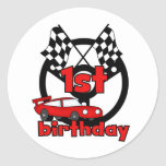 Car Racing 1st Birthday Tshirts and gifts Sticker