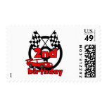 Car Racing 2nd Birthday Tshirts and Gifts Postage Stamps