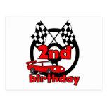 Car Racing 2nd Birthday Tshirts and Gifts Postcard