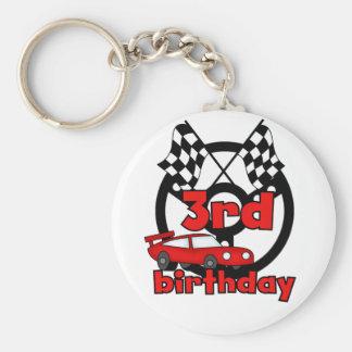 Car Racing 3rd Birthday Tshirts and Gifts Keychain