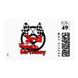 Car Racing 3rd Birthday Tshirts and Gifts Postage Stamps