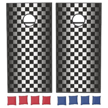 produkto Car Racing Black and White Checkers. Cornhole Set