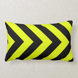 Car Racing Black and Yellow Arrows F1 Race Hazard Lumbar Pillow