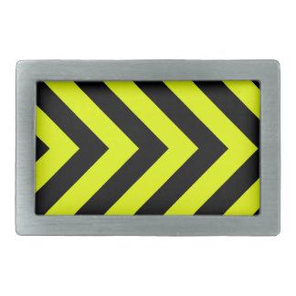 Car Racing Black and Yellow Arrows F1 Race Hazard Rectangular Belt Buckle
