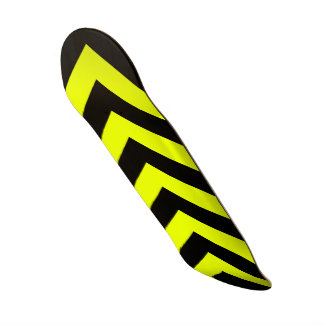 Car Racing Black and Yellow Arrows F1 Race Hazard Skateboard Deck