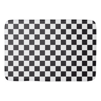 Car Racing / Chess Pattern + your backgr. & ideas Bath Mat