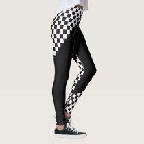Car Racing / Chess Pattern   your backgr. & ideas Leggings