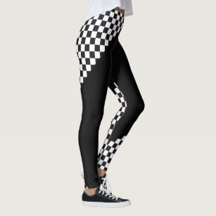 8286ae90a48da4 Car Racing / Chess Pattern + your backgr. & ideas Leggings